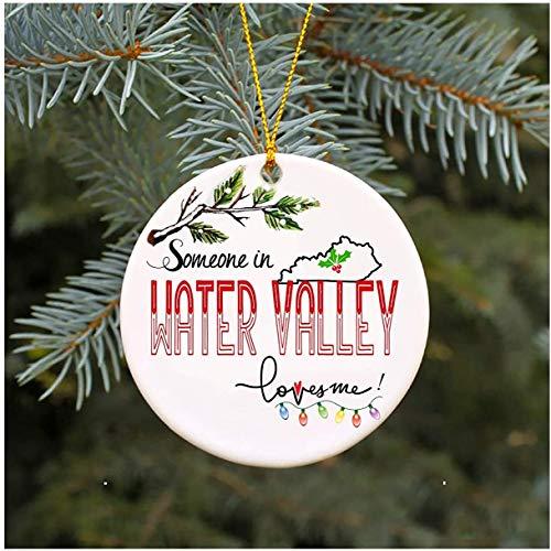 JamirtyRoy1 - Adorno de Navidad, diseño de búhos en el Valle del Agua, Regalo de Recuerdo de Familia, mamá, papá, Esposa, Marido, Esposo, Adorno de Navidad