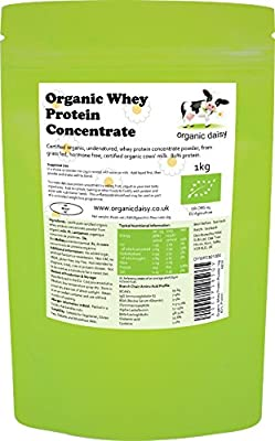 Organic Whey Protein Powder 1kg or 3kg - 80% Protein - Organic Daisy by PINK SUN Ltd