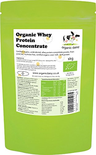 Biologisch Wei-eiwit Poeder 1kg Bio Zonder Smaak Concentraatpoeder Soja-vrij Glutenvrij Gras Gevoed Hormoonvrij Vegetarisch Organic Whey Protein Powder 1000g