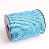 wearrr 30 colori più colori paracord 3mm 100m paracadute cavo climbing camping corda fai da te string vestiti linea multifunzionale (color : 401 light blue camo, length(m) : 100meters)