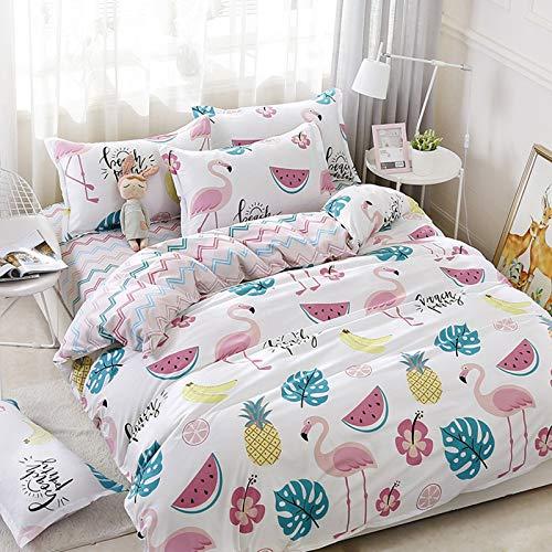 Wenhu Flat Bed Sheet- Home Textile Duvet Cover Pillow Case Bed Sheet Boy Kid Teen Girl Bedding Linens Set,15,Queen Cover200X230cm