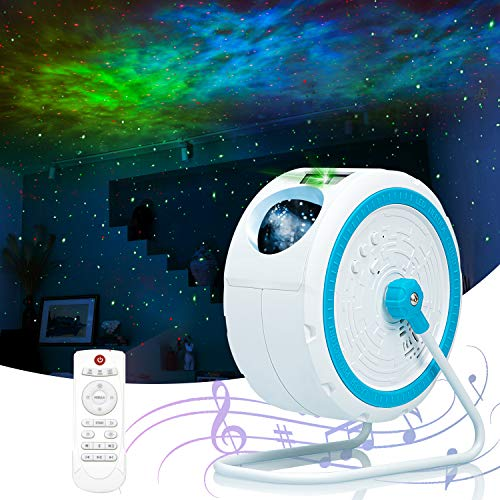 Galaxy Projector, MEETPEAK Star Light Projector 7 Colors LED Nebula Cloud Night Light Projector with...