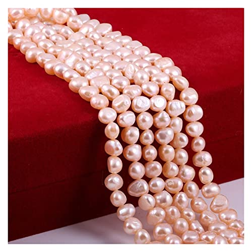 Joyas para mujeres Perla natural de agua dulce barroca rosa rosa irregular de perlas para la fabricación de joyas BRICOLAJE Pendientes Pulsera Collar Accesorios al menos comprar diez Collar de cuentas