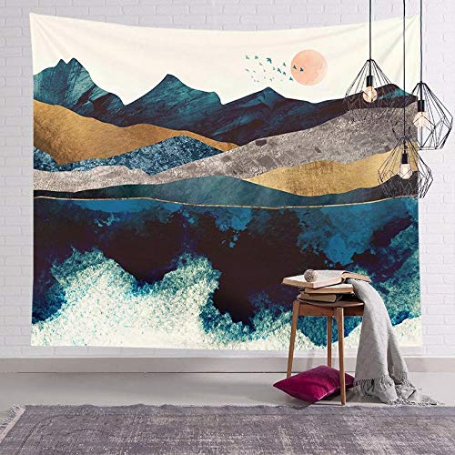 LLUFFY-Clutch Sun Moon Tapestry Wall Wallpaper Hippie Witch Tapiz Psychedelic Farmhouse Art Decor Beach Bohemian Custom Tapices para Dormitorio Sala De Estar 150 * 150Cm