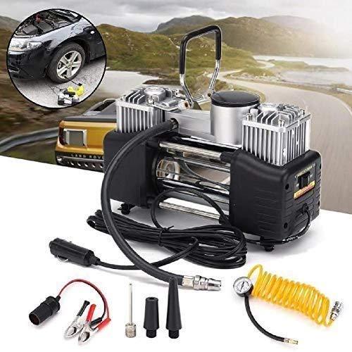 Mixen Electric Air Compressor Inflator Pump for car, Bike, tubeless tyre. 12V 300 PSI air Pump for Bicycle, Footbal