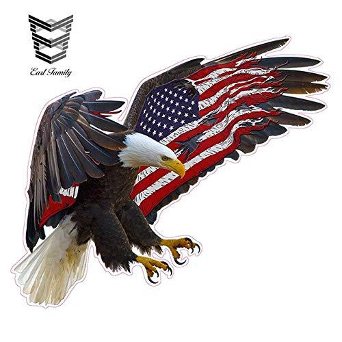 N/X YDBDB 13cm X 11cm Eagle Amerikaanse Vlag Decal Print Die Snijden Grappige Auto Stickers DIY Waterdichte Accessoires Grafische