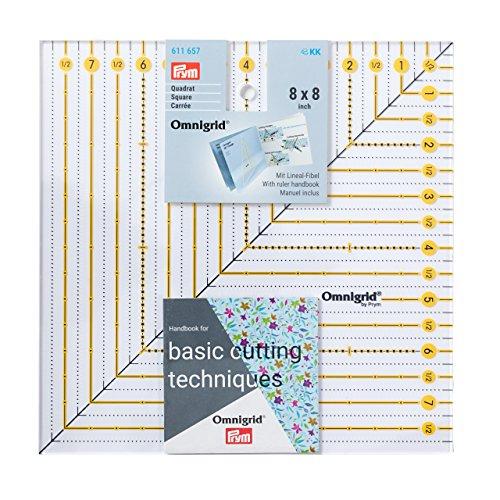 Prym Patchwork-Lineal Square 8 x 8 Inch Omnigrid Regla