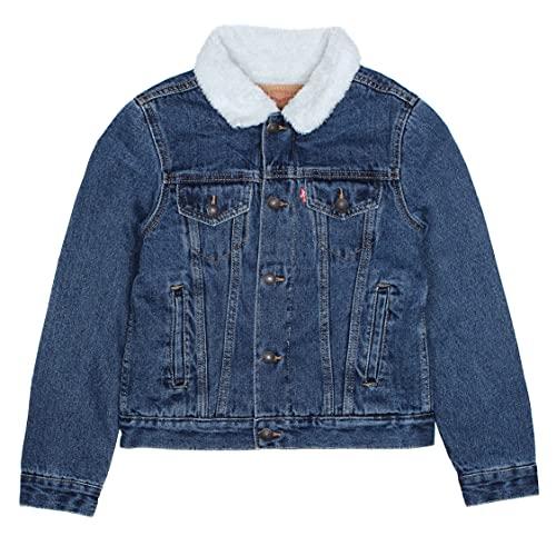 Levi's Kids LVN Sherpa Trucker Jacket Giacca, Stonewash Medio, 3 Anni Bambino