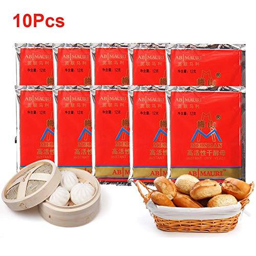 10st Instant gist voor brood, broodmachine gist, voedingsgist voor het bakken, gistpakketten voor pizza