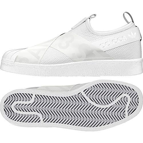 adidas Damen Superstar Slip-On Fitnessschuhe, Weiß (Ftwbla/Ftwbla/Negbas 000), 41 1/3 EU