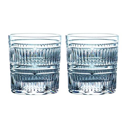 Royal Doulton Conjunto de 2 Copos de Whisky Baixos Radial Transparente