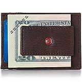 Alpine Swiss RFID Harper Money Clip Front Pocket Wallet For Men Antique BRN