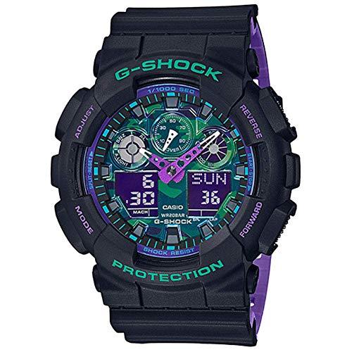 G-Shock by Casio Men's Analog Digital GA100BL-1A Watch Black Purple