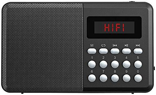 auvisio Radio USB: FM-Taschenradio, Bluetooth, MP3-Player, Display, USB, microSD & Akku (Radio mit USB Stromversorgung)