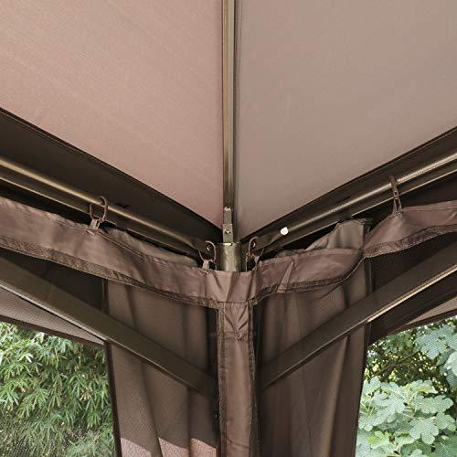 ABCCANOPY Gazebo 10x13 Patio Gazebo, Double Soft-top Garden Gazebos with Mosquito Netting for Patios, Yard, Garden or Outdoor Event, Dark Gray