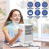 Condizionatore Portatile, TedGem Mini Condizionatore, Mini Raffreddatore D'aria Scuotere la Testa a Sinistra e Destra a 45 °, 3 in 1 Ventilatore/Umidificatore/Condizionatore, per Ufficio/Casa (White)