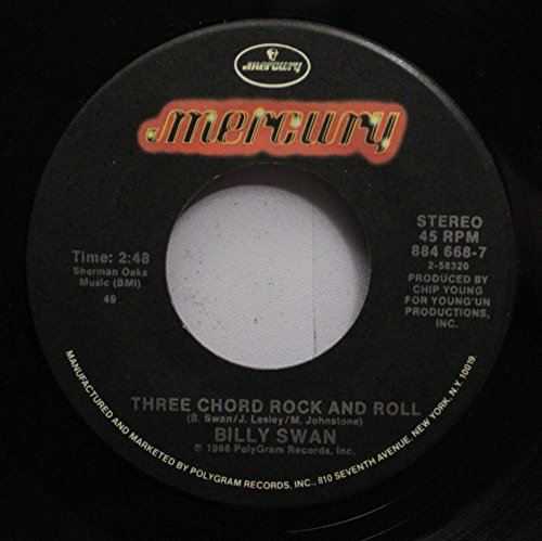BILLY SWAN 45 RPM THREE CHORD ROCK AND ROLL / YOU MUST BE LOOKIN'' FOR ME