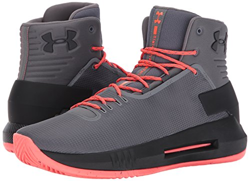 Under Armour Men's Drive 4 Basketball Shoe, Graphite (040)/Graphite, 8