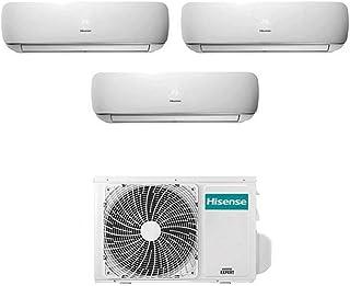 Hisense - Aire acondicionado, sistema climatizador Trial Split Inverter, modelo Hisense Mini Apple Pie 9000+9000+9000 9+9+9 BTU A++, código 3AMW58U4SZD1
