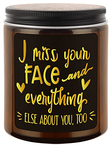 HUTYRT Lavender Scented Candles - I Miss Your Face - I Miss You Gifts,I Love You Gifts for him, her - Long Distance Relationships Gifts for Boyfriend, Girlfriend, Best Friend