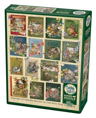 Cobble Hill 1000 Piece Puzzle - The Nature of Books - Sample Poster Included