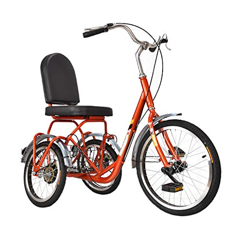 ZFF Fast Shipment Adult Tricycles Single Speed 20Inch 3 Wheel Bikes Bicycles Cruise Trike With Rear...