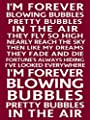 Houseuse I'm Forever Blowing Bubbles Metal Sign 8x12 Inch - West Ham Football Chant Plaque Poster