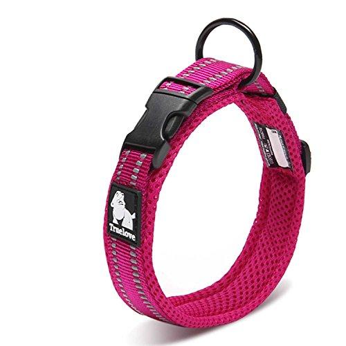 cocomall 犬首輪 犬の首輪 犬用訓練首輪 小型、中型、大型犬用首輪 ペット用品 3M反射材料 ナイロン製 通気...