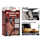 Leather Vinyl Repair Kit -Restorer for Furniture, Couch, Car Seats, Sofa, Easy Instructions, Any Color, For Bonded, Italian, Pleather, Genuine, LuDuo