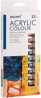 Tinta Acrílica Sinoart 12 cores tubo 12ml