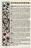Multicolor Desiderata Poem Poster Print 11 X 17 Calligraphy Design