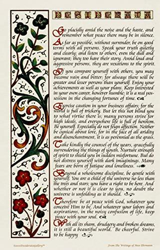 Mehrfarbiges Desiderata-Gedicht, Posterdruck, 28,9 x 43,2 cm