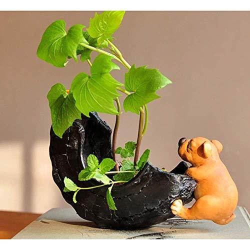 Lindo Perro hogar decoración en Miniatura Accesorios Divertidos jardín de Hadas Figuras de Animales de simulación
