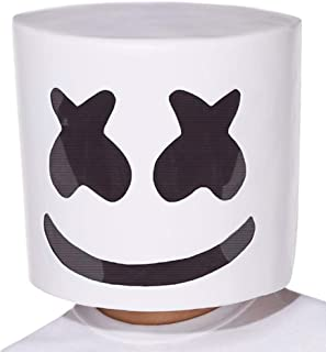 Halloween DJ Mask Novelty Helmets Full Head Mask for Music Festival Party Decoration Props Costume White