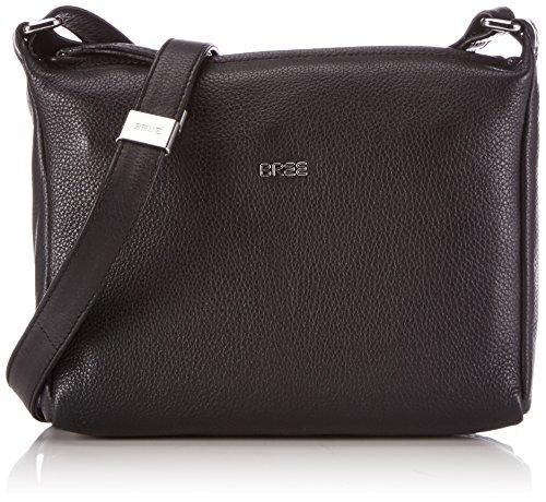 BREE Nola 2, black, ladies' handbag grained 206900002 Damen Henkeltaschen 26x7x20 cm (B x H x T), Schwarz (black 900)