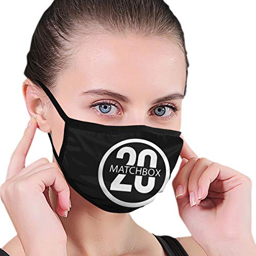 Lwchao Matchbox Twenty Logo Multi Usage Face Mask Cover Up Cotton Breathable Dustproof Windproof Mouth-Mask One Size Black
