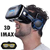 VR Headset/Goggles, Virtual Reality Glasses w/ 3D HiFi Headphones for 3D Movie...