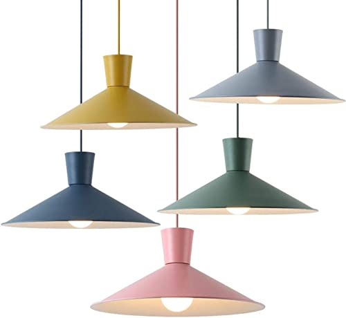 Cwill moderne minimaliste nordique mavoitureon pendentif s'allume Couleuré restaurant bar chambre chevet café créatif LED droplumière, vert, Dia.43cm