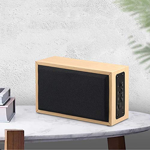 Wood Bluetooth Wireless Speaker Portable Music Computer PC Tablets Game Wooden Speakers TF Card AUX Subwoofer, B
