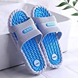 B/H Zapatillas para Masaje de pies,Zapatillas Desodorante Antideslizante, Sandalias de Masaje-Azul Cielo 2_40 Yardas,Masaje para Zapatillas