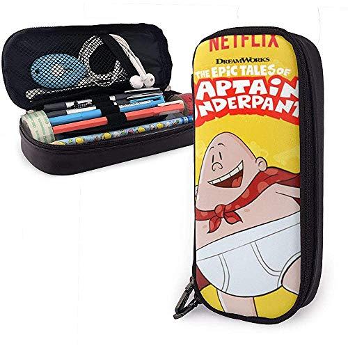 Captain_Underpants-Fly Unisex Kinder Federmäppchen Stiftschachtel Reißverschluss Schreibwarenbeutel Große Kapazität Buggy-Taschen für Mädchen Jungen