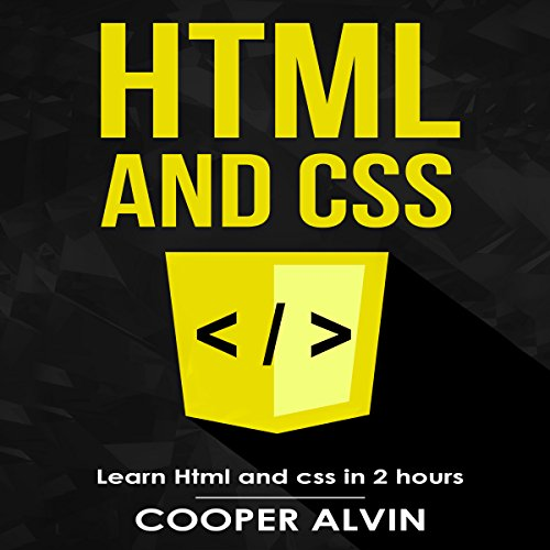 HTML and CSS audiobook cover art