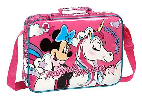 Safta 612012385 Cartera Extraescolares de Minnie Mouse  Rosa  Único