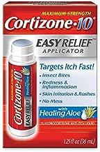 Cortizone 10 With Healing Aloe Easy Relief Applicator, Maximum Strength 1% Hydrocortisone Anti-Itch Liquid, 1.25 Fl. Oz (Pack of 6)