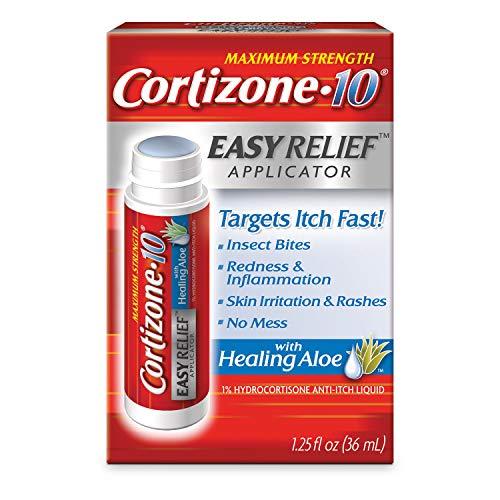 Cortizone 10 With Healing Aloe Easy Relief Applicator 1.25 oz., Maximum Strength 1 percentage Hydrocortisone Anti-Itch Liquid(6 pack)