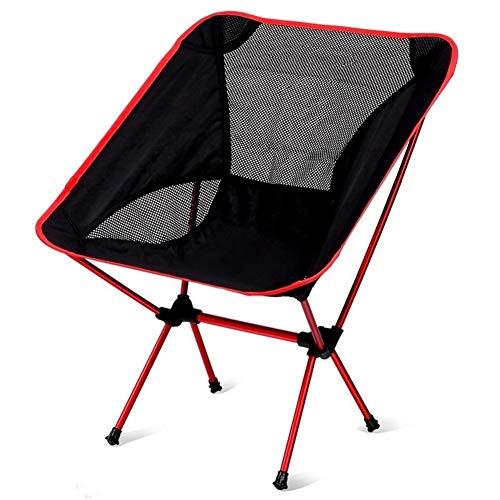 Acampa Plegable del Taburete Silla de Camping Silla de Luna de aleación de Aluminio Ultraligero Pesca Barbacoa Silla Respaldo abatible portátil de Arena al Aire Libre Ideal para picnics Camping Playa