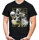 Brasilien Legenden Männer und Herren T-Shirt | Fussball Trikot Fan (M, Schwarz)
