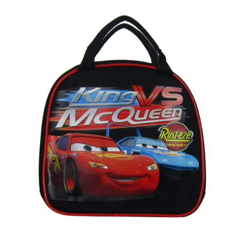 Disney Cars Insulated Lunch Bag & Water Bottle w/ Strap (Black) by Disney