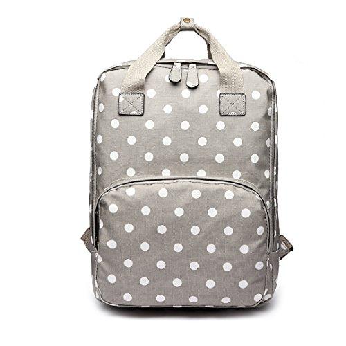 Miss Lulu Rucksack Handtaschen, L, 1807 Punkte grau