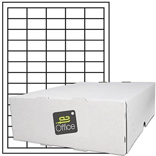 TE-Office 32500 Unidades Etiquetas adhesivas Etiquetas adhesivas Universal Etiqueta en A4 Arco blanco mate 38 x 21,2 mm Láser Inyección de tinta